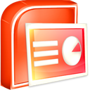 ppt, powerpoint OrangeRed icon