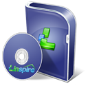 Disk, disc, Box, Linspire, save DarkSlateBlue icon