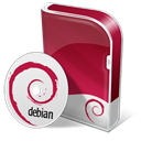 disc, Disk, Box, save, Debian Brown icon