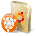 Ubuntu, Disk, save, Box, disc Black icon