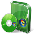 Vista, homepage, Home, save, house, Building, Premium, disc, Box, Disk ForestGreen icon