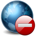 globe, earth, cancel, stop, world, no, planet Black icon