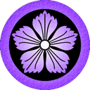 nadeshiko, purple Black icon