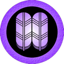 takanoha, purple Black icon