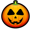 halloween, Avatar, Face, pumpkin Black icon