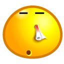 Face, Nosebleed, emoticom, Avatar Gold icon