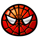 emoticom, Face, Avatar, Spiderman Black icon