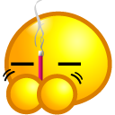 Face, stick, joss, emoticom, Burn, Avatar Yellow icon