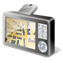 gpsdevice, Tomtom, Map Black icon