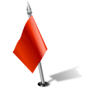 leftred, flag Black icon
