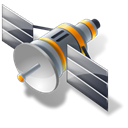 Satellite Black icon