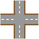 plain, crossroad DarkGray icon