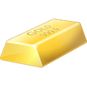 gold, bullion Black icon