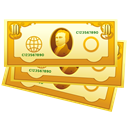 Cash, Currency, Money, coin Goldenrod icon
