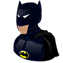 Cartoon, Batman Black icon