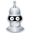 Bender, Cartoon Black icon