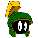 marvin, martian Black icon