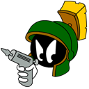 marvin, martian, Gun, with, Angry Black icon