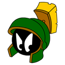 marvin, Angry, martian Black icon