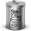 Crap, simpson, pig Black icon