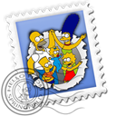 Message, Letter, simpson, mail, Email, envelop Black icon