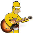 Band, garage, homer Black icon