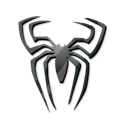 Spiderman, spider, Cartoon, Black Black icon