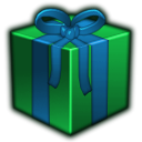 present, green, gift ForestGreen icon