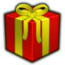 gift, present, red DarkRed icon