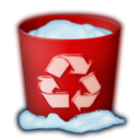 Trash, recycle bin, Full Maroon icon