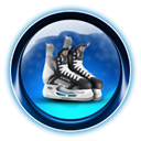 christmas, ikony, dooffy, Ice, skate Black icon