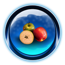 Apple, Fruit, dooffy, ikony, food, christmas Black icon