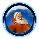 santa, christmas, ikony, dooffy Black icon