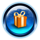 ikony, dooffy, present, christmas, gift Black icon