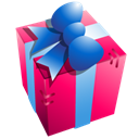 gift, Box, present Black icon
