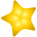 Favourite, bookmark, star Gold icon