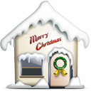 Building, merry christmas, Home, house, homepage DarkGray icon