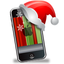 Iphone, smartphone, Cell phone, mobile phone, christmas, xmas Black icon