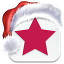 Social, misterwong, media, christmas, bookmark, xmas, star WhiteSmoke icon