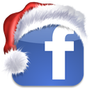 Social, christmas, Facebook, Sn, xmas, media, bookmark, social network SteelBlue icon