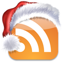 subscribe, media, Rss, Social, bookmark, xmas, feed, christmas Goldenrod icon