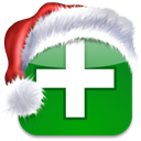 christmas, xmas, bookmark, netvibes, Social, media Green icon