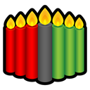 kwanzaa, Candle Black icon