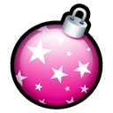 Ball, christmas Black icon