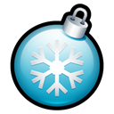 christmas, Ball Black icon