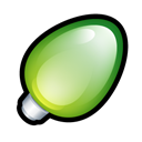 tip, hint, green, christmas, Energy, light Black icon