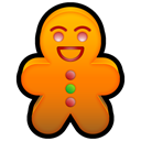 gingerbread Black icon