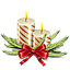 Candle, christmas Ivory icon