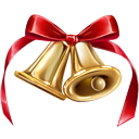 jingle, christmas, bell DarkRed icon