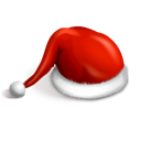 santa, Cap Black icon